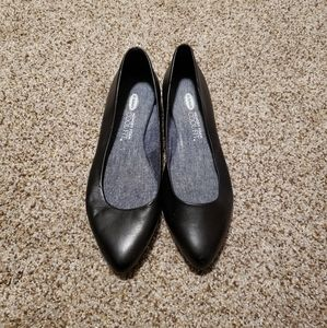 DR SCHOLL'S Black Pointed Toe Flats Size 8M